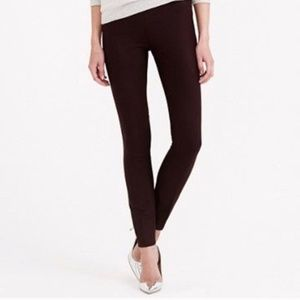 J.Crew Minnie bi-stretch wool 6 burgundy